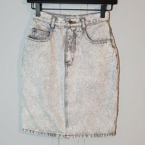 Vintage Stefano Light Grey Washed Denim Skirt